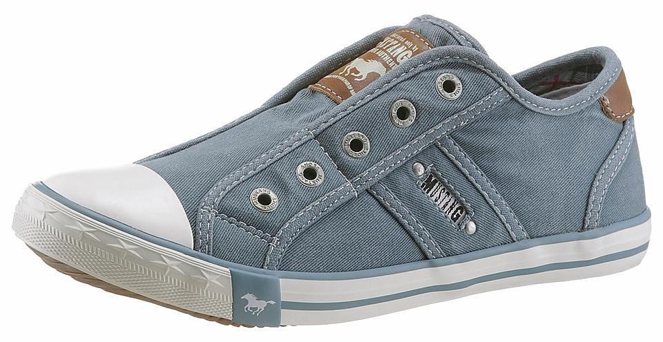 Große Größen: Mustang Shoes Slip-On Sneaker, himmelblau, Gr.36-44